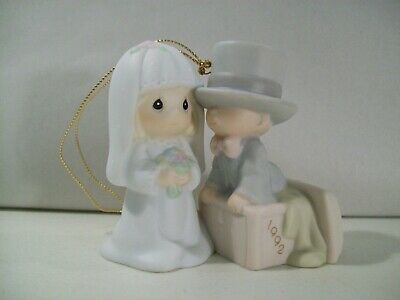 Precious Moments Our First Christmas Together 1992 Bride & Groom Ornament 528870
