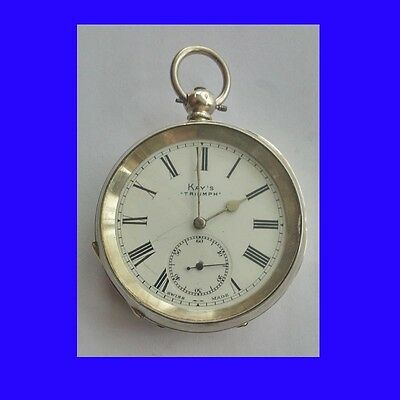 Substantial Edwardian Silver Kays of Worcester  KW Pocket Watch  1905