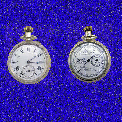 Double Dial Patent Chronograph Boating Horse  Racing Pocket Watch 1903