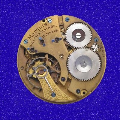 Antique Waltham Hunter 15 JEWEL 16S Pocket Watch Movement, 1900