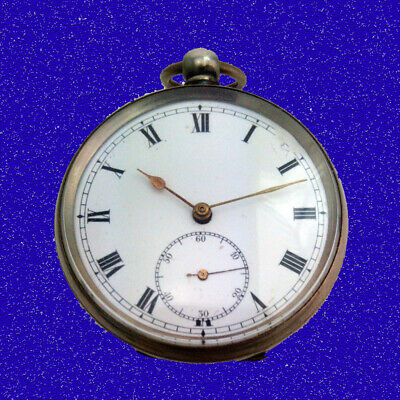 Substantial Victorian Silver Swiss L'Epine KW Non-Fusee  Pocket Watch 1850