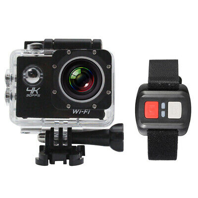 Waterproof 4K Wifi HD 1080P 4X Zoom Sports Action Camera DVR Cam Camcorder F0V2