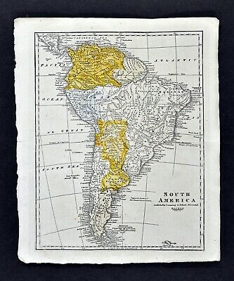 c 1820 Morse Map South America Brazil Amazon Argentina Chile Peru Colombia Rio