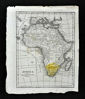 c 1820 Morse Map Africa Guinea Egypt Nubia Congo Ethiopia South Kong Mountains