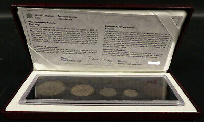 1998 Royal Canadian Mint 90TH Anniversary Antique Finish 5 Coin Set