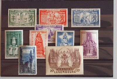 LUXEMBOURG 1946 Complete XF MNH** Stamp Sets, Madonna, LIberation