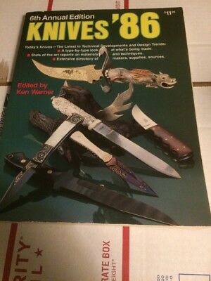 KNIVES '86 - 6th  Annual  -  1986 DBI Publications  Knife Collectors BOOK
