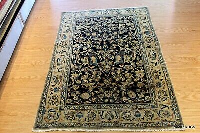Late 19th Century Authentic Persian Ferhan or Farahan Rug Small Blue & Beige