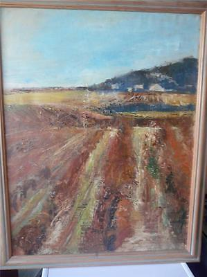 fine 20thc oil painting vineyard in provence  listed artist Barbara Robinson