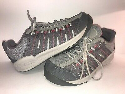 Columbia Techlite Sz 3 Gray Lace Up Big Girls Shoes Ws10-10-2