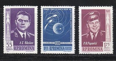 Romania 1962 MNH Sc C123-C125 Mi 2096-2098 1st Russian group space flight **