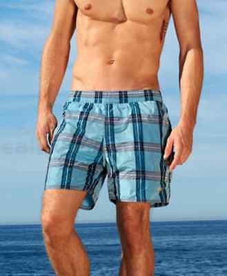 """SAUVAGE Sun Plaid Pull On Swimmer Shorts Made in USA  """"Small"""""""