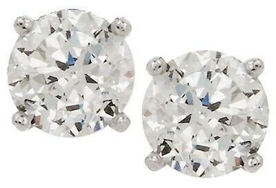 261a80699 Diamonique Platinum Clad Sterling Silver 100-Facet 2.00Ct Stud Earrings Qvc