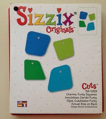 Sizzix Die Charms Funky Squares Mini Photo Frame Scrapbook Diecut Retired Case