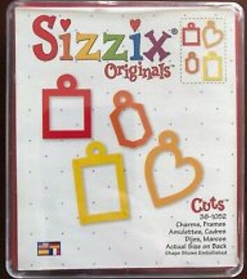 Sizzix Die Charms Frames Heart Mini Photo Frame Scrapbook Diecut Retired Case