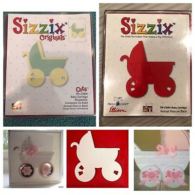 Sizzix Die Baby Carriage Stroller Nursery Scrapbooking Diecut Retired CardMaking