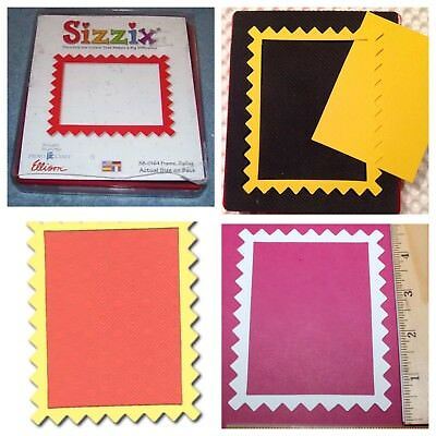 Sizzix Die Rectangle ZigZag Frame Originals Photo Scrapbook Diecut Retired NEW