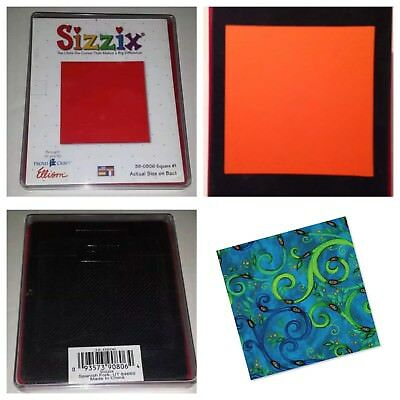 Sizzix Die Lg Square #1 Originals Photo Album Pages Scrapbook Diecut Retired NEW