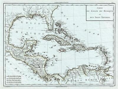 1795 Mentelle and Chanlaire Map of the West Indies