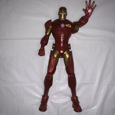 """Disney Store Marvel Avengers 14"""" Talking IRON MAN Action Figure PRE-OWNED"""
