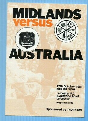 Midlands V Australia 1981 At Leicester.vgc