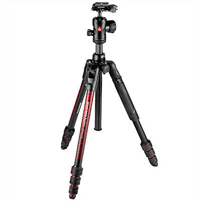 "Manfrotto BeFree Advanced 59"" Aluminum Travel Tripod with Ball Head & Case Red"
