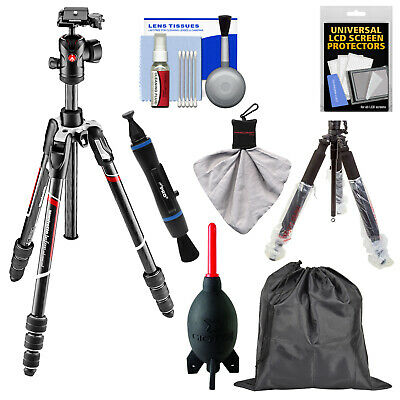"""Manfrotto BeFree GT 64"""" Carbon Fiber Travel Tripod with Ball Head & Case Bundle"""