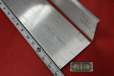 "2 Pieces 3/8"" X 4"" ALUMINUM 6061 FLAT BAR 15"" Long T6511 Plate Mill Stock"