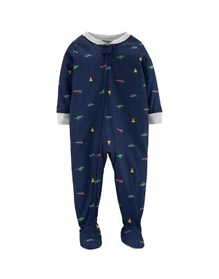 7a7d32769 Carters Baby Boy Footed Pajamas Pizza Dinosaurs Sleep And Play Sleeper  Footies