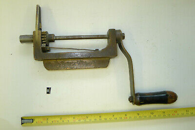 b) LARGE Antique/Vintage CLOCK MAINSPRING WINDER watchmakers tools