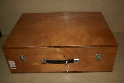 "<Jm> Wood Hard Equipment Carrying Case - 21X15X4"" Inside (10J)"