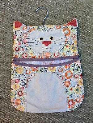 Ulster Weavers Kitsch Style Cat Fabric Peg Bag ~ Shabby Chic