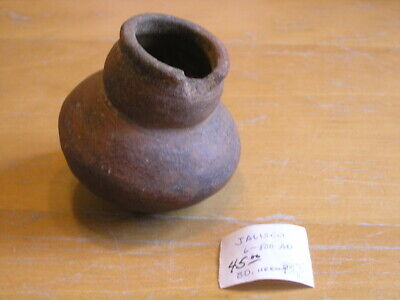 "Ancient Pre Columbian Jalisco Pottery Pot Olla Seed Jar Red Clay 3 7/8""w 3 5/8""h"