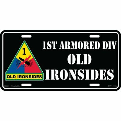 US ARMY 1ST Armored Division Old Ironsides Iron Signal