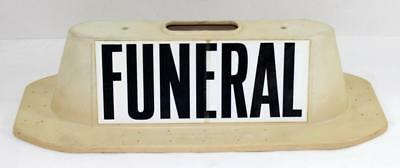 1960s Magnetic Funeral Two Sided Car Top Sign ~ Reed Enterprise Long Beach CA #2