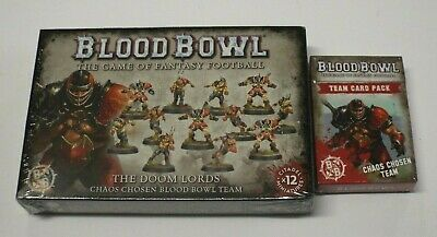 Blood Bowl Chaos Chosen Doom Lords, Team Card Pack Lot/Set/Collection / New
