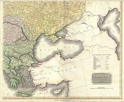 1817 Thomson Map Of Griechenland,The Balkan Und