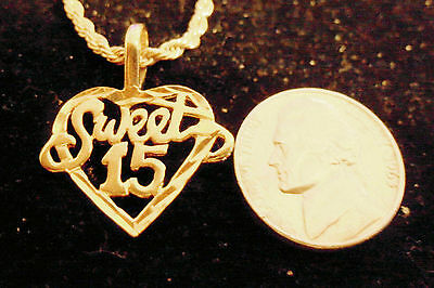 bling gold plated sweet 15 FASHION pendant charm hip hop necklace JEWELRY GP DIY