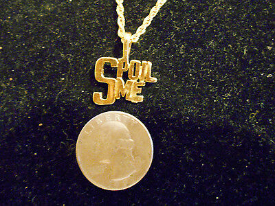 bling gold plated spoil me FASHION JEWELRY pendant charm chain hip hop necklace