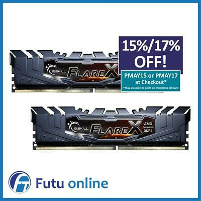 G.Skill Flare X 16GB 2x8GB DDR4 3200MHz CL16 AMD Gaming Desktop Memory RAM Kit