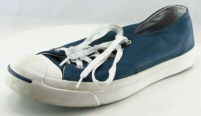 02645ef51c4fc9 CONVERSE JACK PURCELL Signature Ox Black Leather White Blue Sole ...