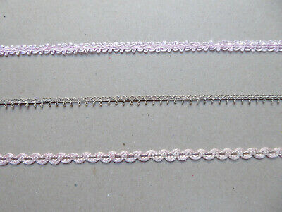 Vintage Tiny Trims Pink tones. Dolls, Craft. PPM