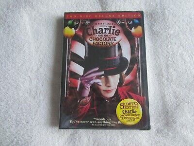 Charlie and the Chocolate Factory (DVD, 2005, 2-Disc Set, Widescreen Deluxe) NEW