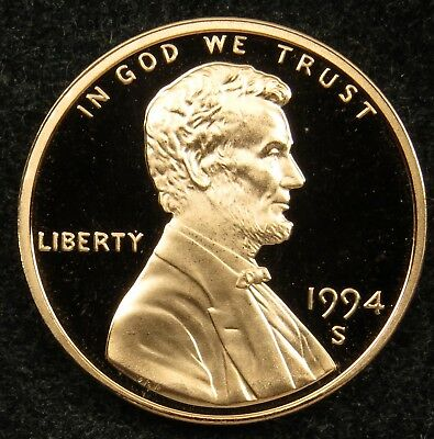 1994 S Deep Cameo Proof Lincoln Memorial Cent Penny (B01)