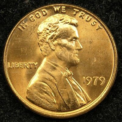 1979 Uncirculated Lincoln Memorial Cent Penny BU (B02)