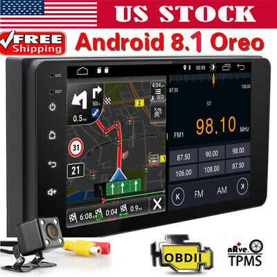 Android 8.1 Oreo Double 2Din InDash Car GPS Navigation Stereo Radio For Toyota