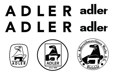Adler Commercial Sewing Machine Restoration Decals