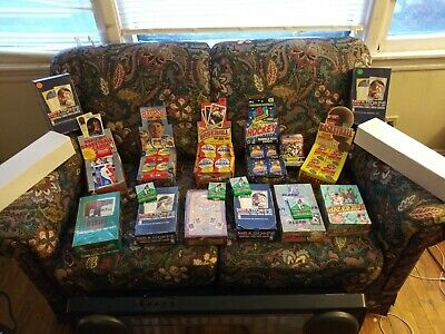 old vintage 100+ cards lot from wax pack boxs huge amounts unopened packs +bonus