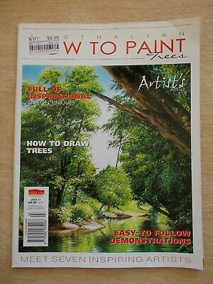 Australian How To Paint~TREES~Issue 11~Demonstrations~Techniques~Drawing.....