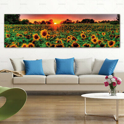 Sunflower Flower Canvas Painting Poster Print Wall Art Picture Home Decor